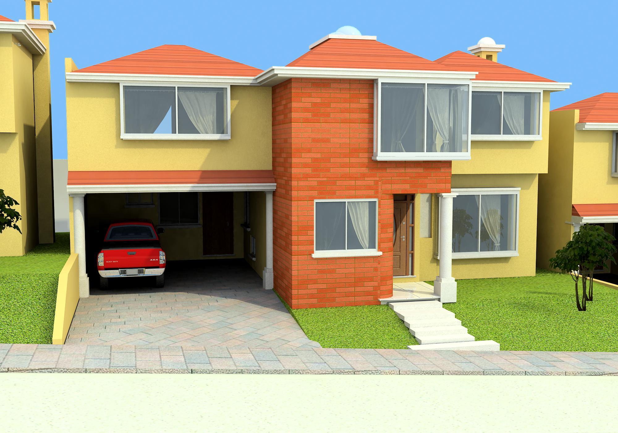 Casas lujosas a un costado de condado concepcion for Render casa minimalista